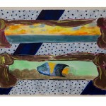 Ree Morton,	Study for Regional Piece	1976	Mixed media on paper	33 in. x 44 1/4 in. (83.82 cm x 112.4 cm)	Collection of the Museum of Contemporary Art, North Miami Gift of Joan and Roger Sonnabend