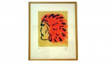 Injun Poster, 1973Silkscreen on Arches paper, 28 3/4 x 21 3/4 inches (73.03 x 55.25 cm)Gift of Ruth and Richard Shack