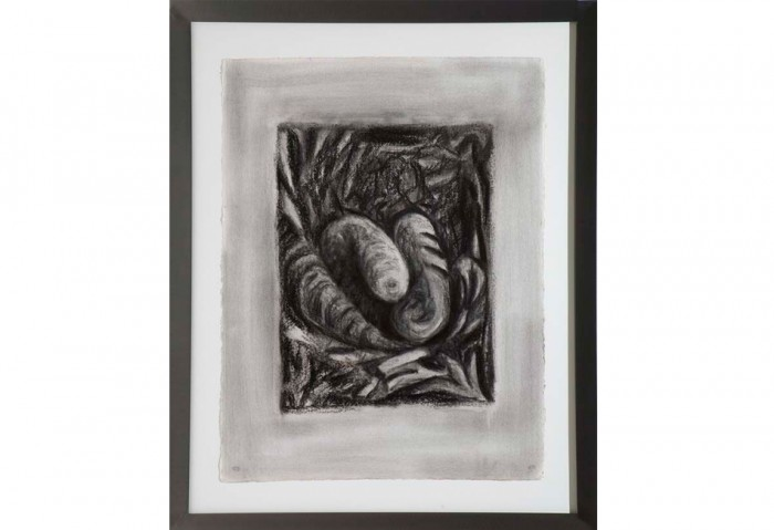 <i>Drawing for Denial III</i>, 1985<br>Charcoal on paper, 30 x 22 1/4 inches (76.2 x 56.52 cm)<br>Gift of Joan and Roger Sonnabend