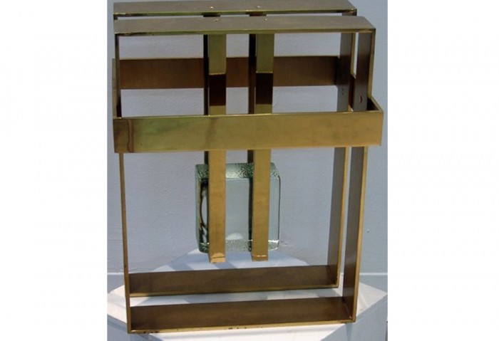 <i>Untitled</i>, c. 1979<br>Polished brass and glass, 18 x 14 x 11 inches (45.72 x 35.56 x 27.94 cm)<br>Gift of Cricket and Martin Taplin
