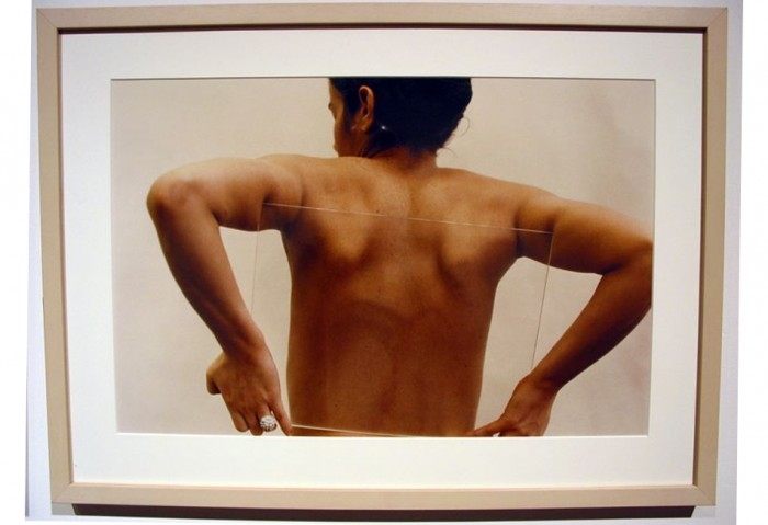 <i>Untitled (Glass on Body)</i>, 1972<br>Color photograph, 24 x 17 1/4 inches (60.96 x 43.82 cm)<br>Purchased with funds provided by Rosa and Carlos de la Cruz