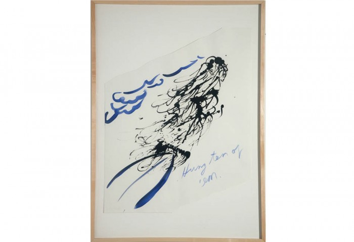 <i>Untitled (Hang Ten of 'em)</i>, 2003<br>Ink on paper,	24 x 19 inches (60.96 x 48.26 cm)<br>Gift of the Artist