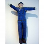 Policeman, 1995Painted papier mache on wire, 22 x 16 x 3 inches (55.88 x 40.64 x 7.62 cm)Gift of Maggie Hernandez in memory of Silvio E. Hernandez