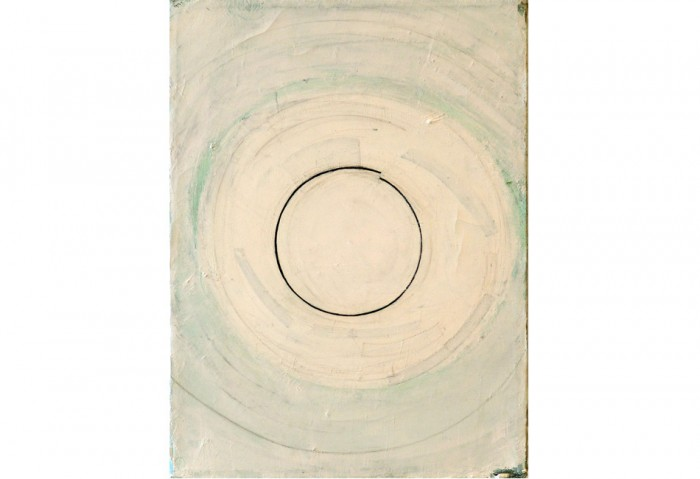 <i>Circle A</i>, 1995<br>Oil on canvas, 12 x 9 inches (30.48 x 22.86 cm)<br>Gift of James S. and Marisol G. Higgins