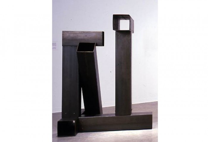 <i>T-Square</i>,	1976<br>Structural steel, 76 x 56 x 46 inches (193.04 x 142.24 x 116.84 cm)<br>Anonymous gift courtesy of Dorothy Blau Gallery