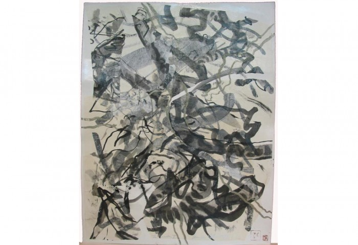 <i>Winter Experiences in New York</i>,	 1996<br>Mixed media, 19 3/4 x 25 1/2 inches (50.17 x 64.77 cm)<br>Gift of Liza and Dr. Arturo Mosquera