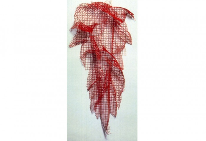 <i>Avenue 43</i>, 1991<br>Painted mesh steel,	41 x 21 x 9 inches (104.14 x 53.34 x 22.86 cm)<br>Gift of	Eileen and Peter Norton