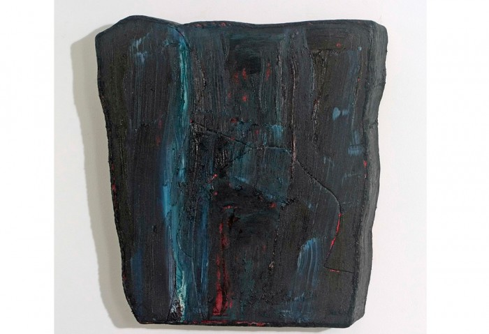 <i>Untitled</i>, 1992<br>Oil on canvas and wood, 30 x 24 x 2 inches (76.2 x 60.96 x 5.08 cm)<br>Gift of Sirje and Michael Gold
