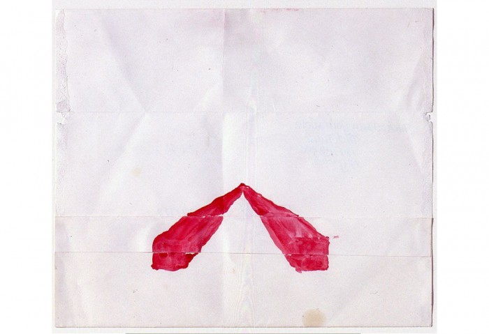 Two Red Squares,	1977,	watercolor on paper on paper	7 5/8 in. x 8 7/8 in. (19.37 cm x 22.54 cm).	Collection of the Museum of Contemporary Art, North Miami Gift of Jock Truman and Eric Green