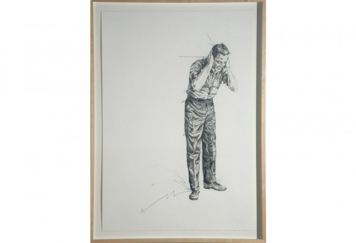 <i>Father didn't want anything to do with it</i>, 2007<br>Graphite on paper, 30 x 22 inches (76.2 x 55.88 cm)<br>Gift of Fredric and Kathy Snitzer