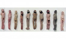 Untitled men, 2007Clay and acrylic paint, 16 1/4 x 24 1/2 x 3 1/4 inches (41.28 x 62.23 x 8.26 cm)Purchased by the Museum of Contemporary Art, North Miami