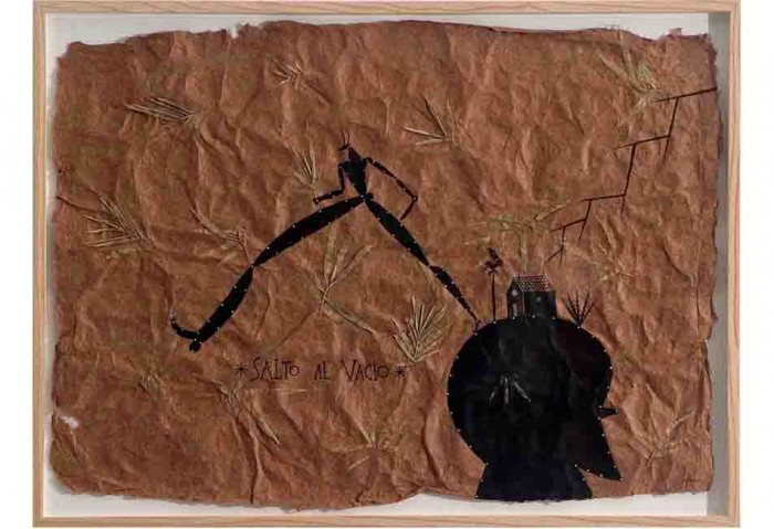 <i>Salto al Vacio (Jump into the Void)</i>, 1995<br>Ink on handmade paper, 27 x 21 inches (68.58 x 53.34 cm)<br>Purchased in honor of Richard Shack with funds from JoAnn & Robert Bass, Sy & Joyce Chadroff, William & Marilynn Gladstone, Jaime Marquez & Janice Shack-Marquez, Merri Mann & Harris Reibel, Natalie & Dr. Gilbert Snyder, Jose Vilarello, and Gino de Schryver