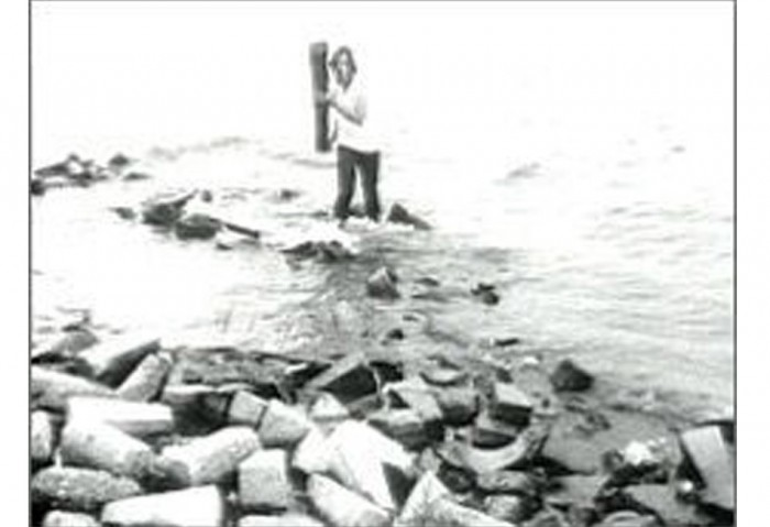 <i>Broken Off/Beached</i>, 1979<br>Black and white videotape on 3/4 inch format<br>Purchased by the Museum of Contemporary Art, North Miami