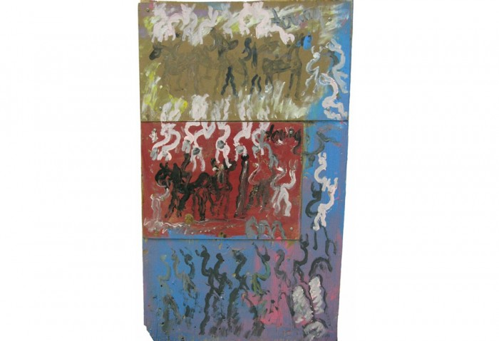 <i>Untitled</i>, N.D.<br>Mixed media on masonite and plywood, 41 1/2 x 24 inches (105.41 x 60.96 cm)<br>Gift of Katzman Family Collection