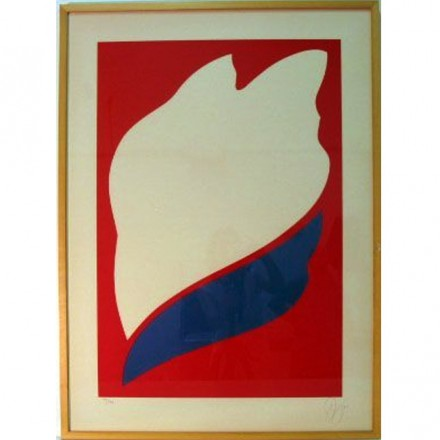 Jack Youngerman Untitled, 1973 Silkscreen on Arches paper Gift of Ruth and Richard Shack