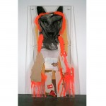 Firecrotch, 2008 Plexiglass, yarn, printed paper, cardboard, tape, charcoal, spray paint, tempera, 93 1/4  x 45  x 2 3/4 inches (236.86 x 114.3 x 6.99 cm)Purchase with funds from the MOCA POP 8 1/2 Fundraiser