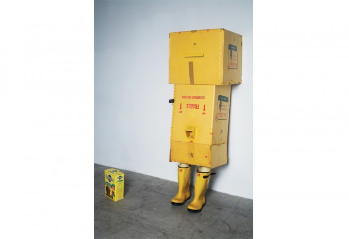 <i>Return of the Pilgrim</i>, 2000<br>Mixed media, dimensions variable<br>Gift of Fredric and Kathy Snitzer