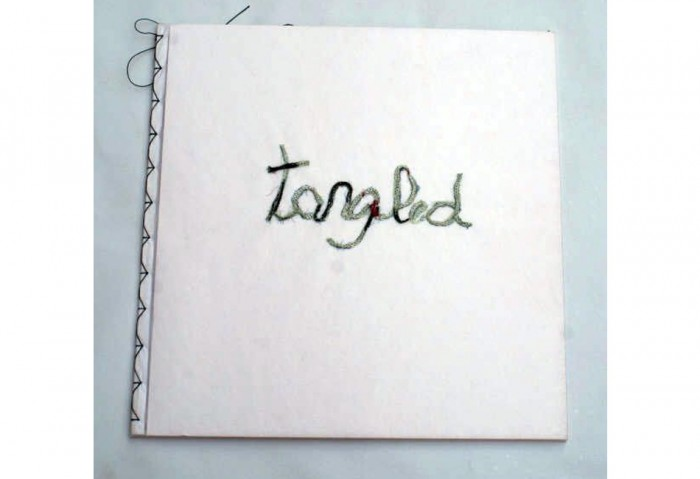 <i>Tangled</i>, 2007<br>Pelon material and applique, 12 x 12 x 1/4 inches (30.48 x 30.48 x .064cm)<br>Purchased with funds from the MOCA POP 8 1/2 Fundraiser