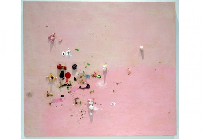 <i>Scenarios V</i>, 1996<br>Oil, acrylic and paper on canvas, 42 x 48 inches (106.68 x 121.92 cm)<br>Gift of Heidi L. Steiger