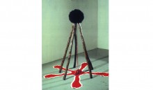 5 Sticks, 1992Wood, wig, fabric and rock,66 x 66 x 63 inches (167.64 x 167.64 x 160.02 cm)Gift of Peter Norton