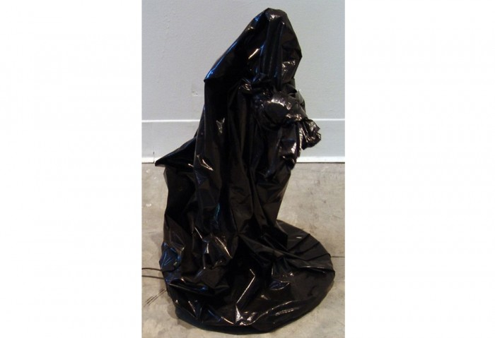 <i>Untitled</i>, 1993<br>Plastic bag and motor, 25 x 15 x 15 inches (63.5 x 38.1 x 38.1 cm)<br>Gift of Eileen and Peter Norton