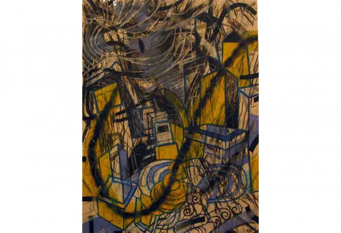 <i>Black Drawings</i>, 1999<br>Crayon on paper, 28 x 22 inches (71.12 x 55.88 cm)<br>Gift of Dr. Arturo and Liza Mosquera