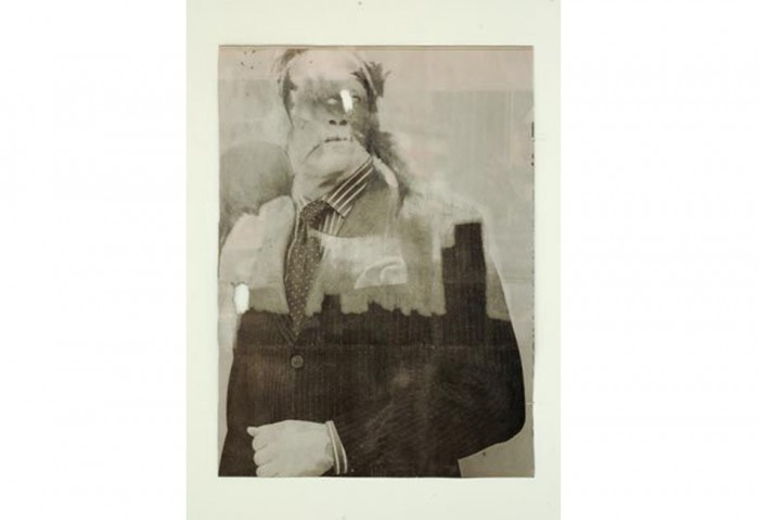 <i>Empty Trust</i>, 2006<br>Graphite on acid neutralized erased newsprint, 11 1/2 x 8 1/2 inches (29.21 x 21.59 cm)	Collection of the Museum of Contemporary Art, North Miami Museum purchase with funds provided by the Braman Family Foundation, Rosa and Carlos de la Cruz and Lourdes and Tim Collett