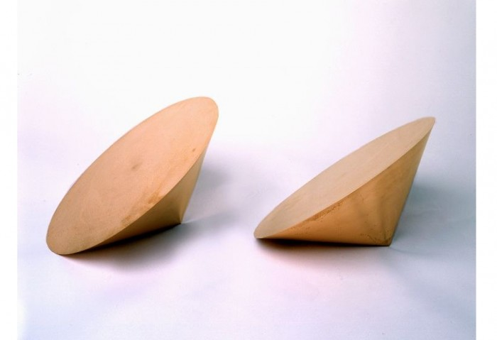 <i>Pair Object Via</i>, 1990<br>Solid forged copper,	13 x 13 x 8 inches (33.02 x 33.02 x 20.32 cm)<br>Gift of Estelle and Paul Berg
