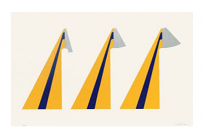 <i>Triple</i>, 1965<br>Colored serigraph on paper, 40 x 30 inches (101.6 x 76.2 cm)<br>Gift of Debra and Dennis Scholl
