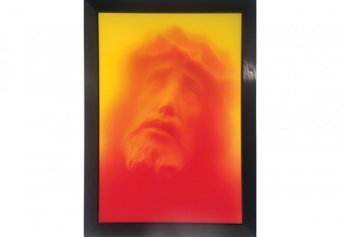 <i>Ecco Homo</i>, 1988<br>Cibachrome print, silicone, and plexiglass<br>Gift of Estelle and Paul Berg