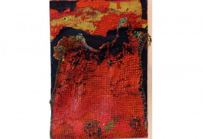 <i>The Edges of Night</i>, 1995<br>Mixed media on wood, 13 x 9 1/2 x 3 1/2 inches (33.02 x 24.13 x 8.89 cm)<br>Gift of James S. and Marisol G. Higgins