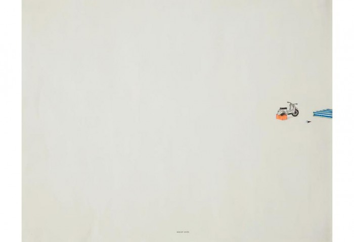 <i>Midnight Express</i>, 2001<br>	Work on paper, 19 x 24 inches (48.26 x 60.96 cm)<br>Gift of Genaro Ambrosino
