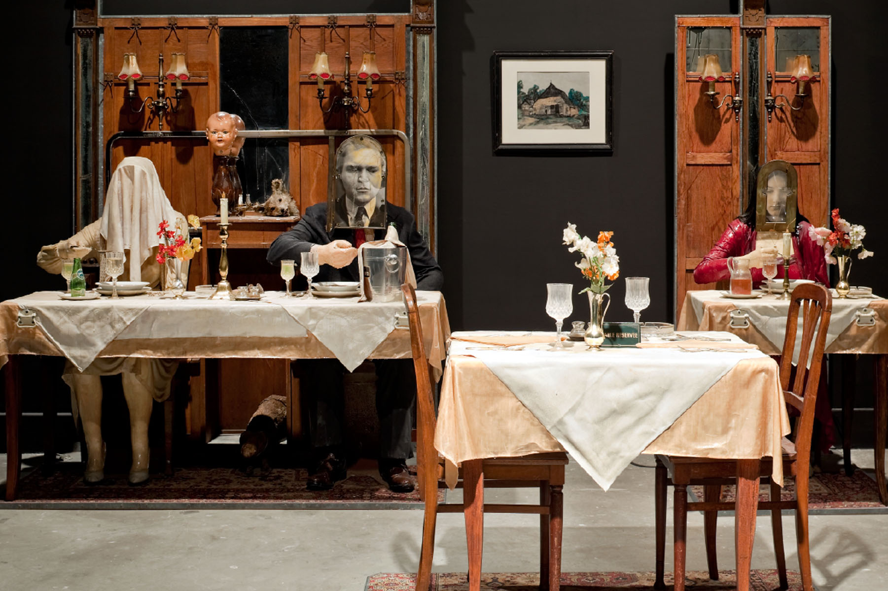 The Soup Course at the She-She Cafe, 1982 Mixed media, 87 1/4 x 141 x 112 inches