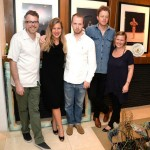Kathryn Mikesell with artists from the Fountainhead Residency Photo by: Manny Hernandez
