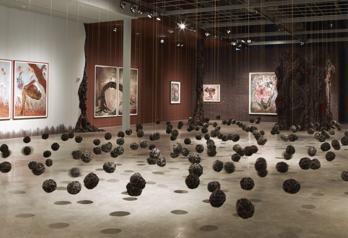 Wangechi Mutu: A Fantastic Journey - Installation view. Photo by Daniel Portnoy