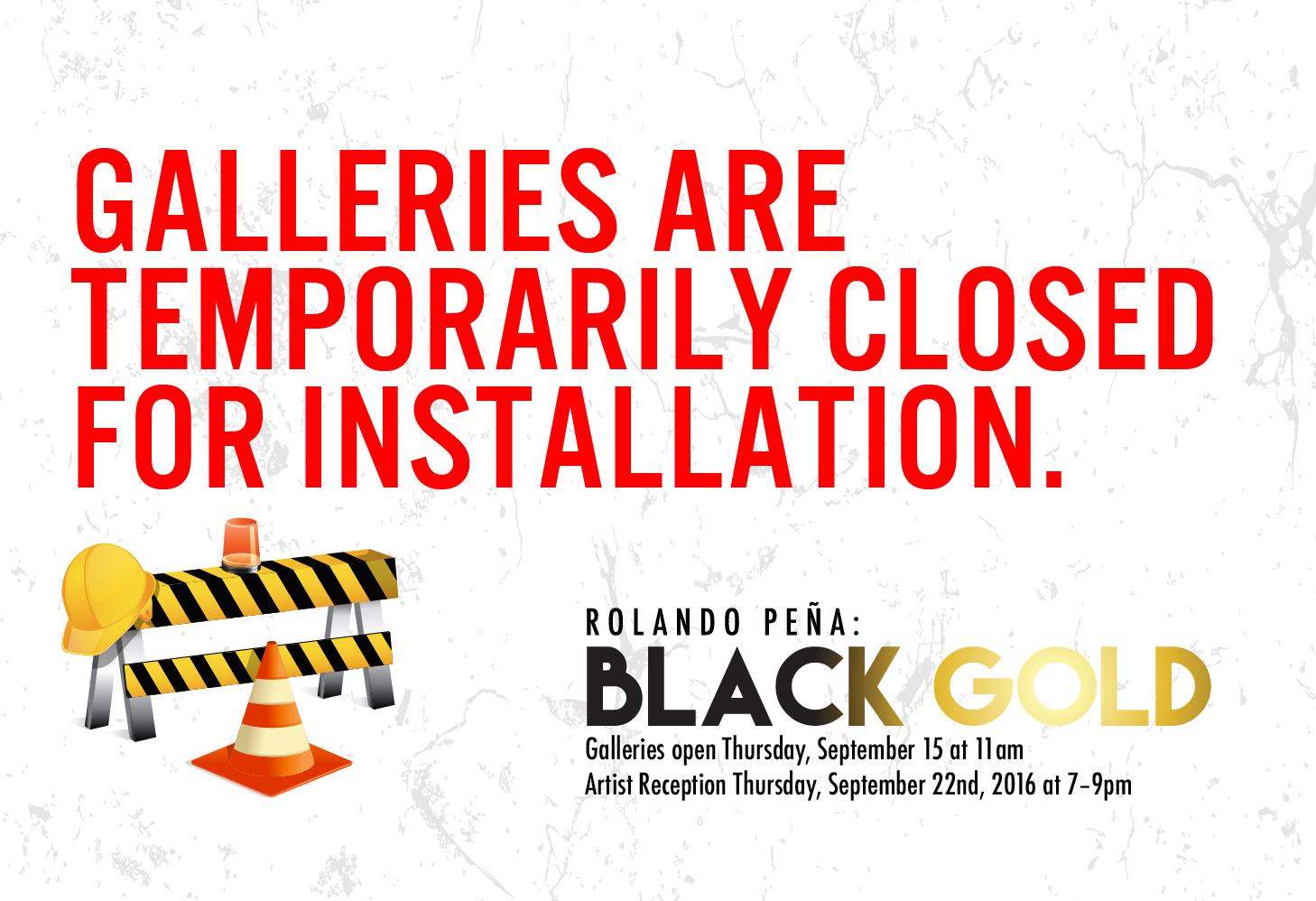 Dark Museum | Black Gold Installation
