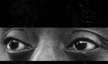 James Baldwin's eyes from poster