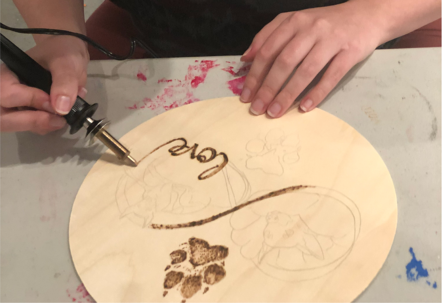 Wood Burning example