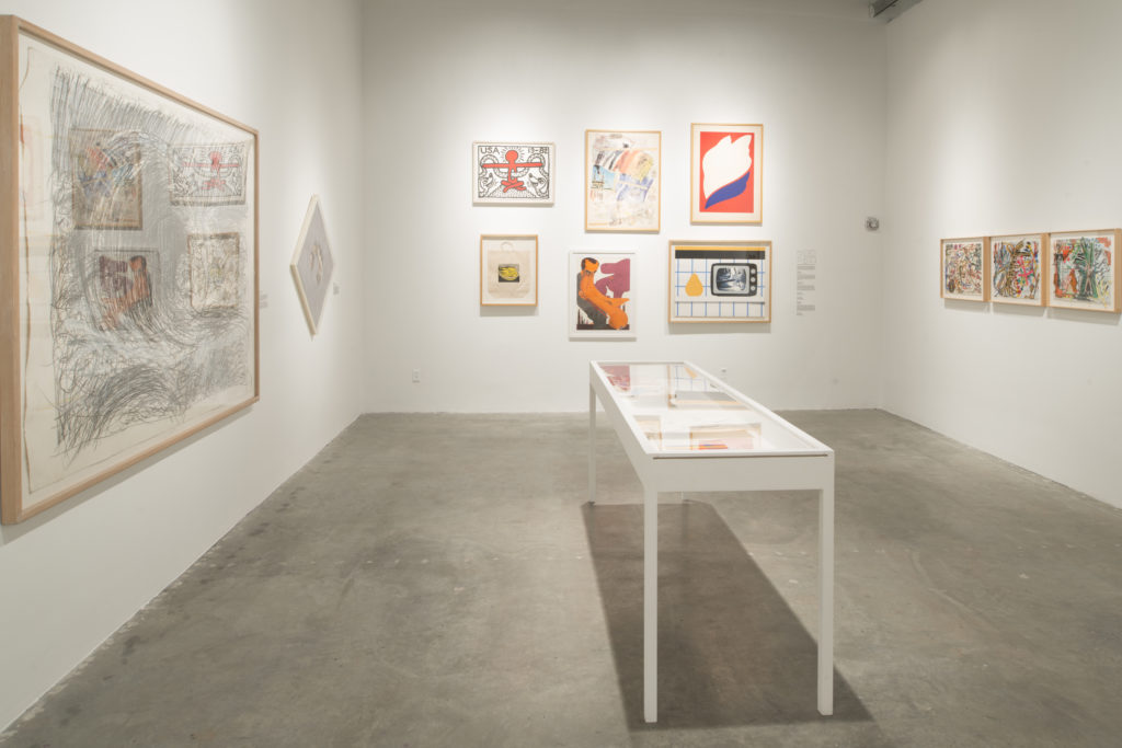 Installation view of Collection focus: works on paper from the 1960s–1980s
