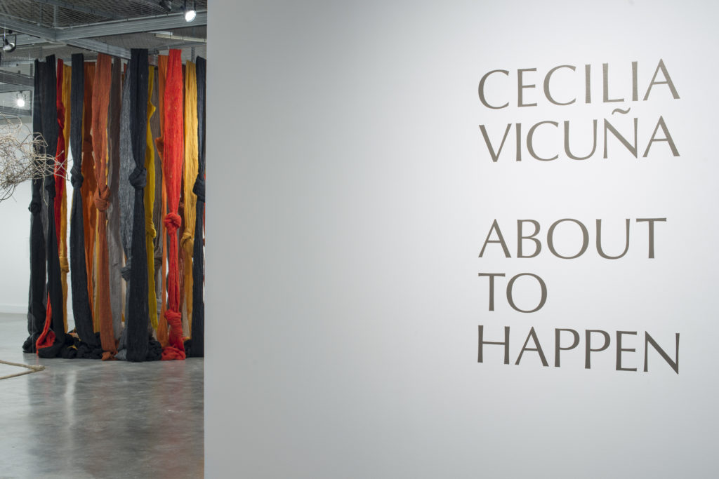 Cecilia vicuÑa: about to happen installation view