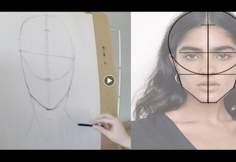 Teen Art Force Portrait class video