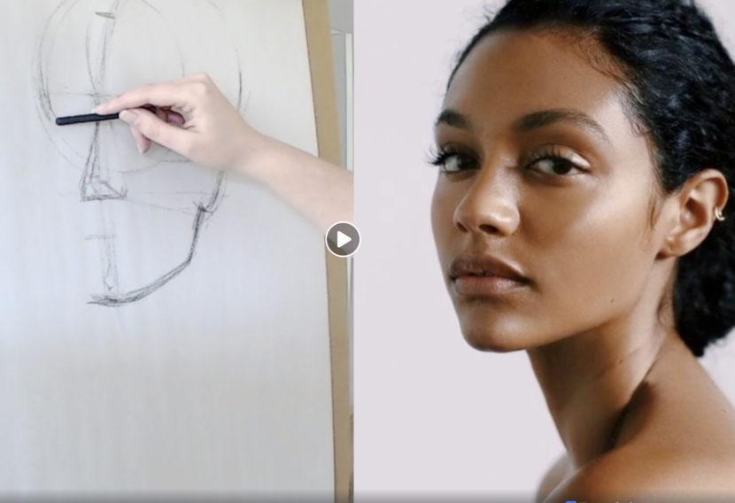 Virtual drawing & portfolio class: 3/4 portrait drawing