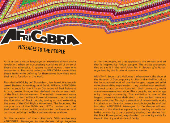 Africobra: messages to the people gallery guide spread