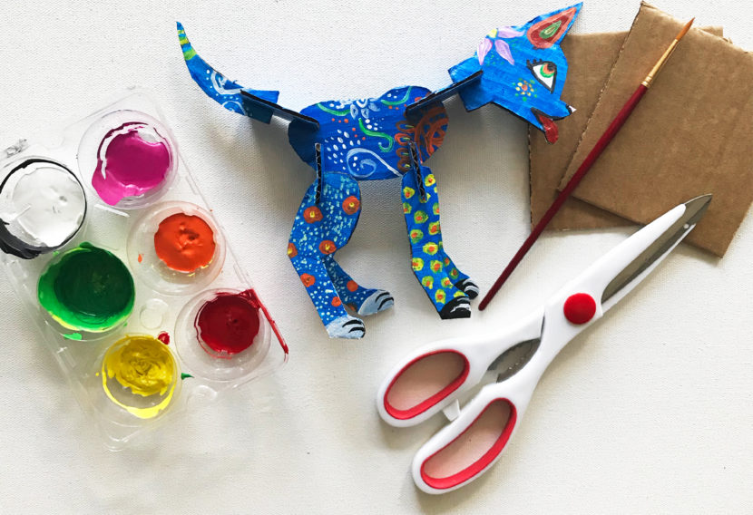 Art project | amazing alebrijes finished project and supplies