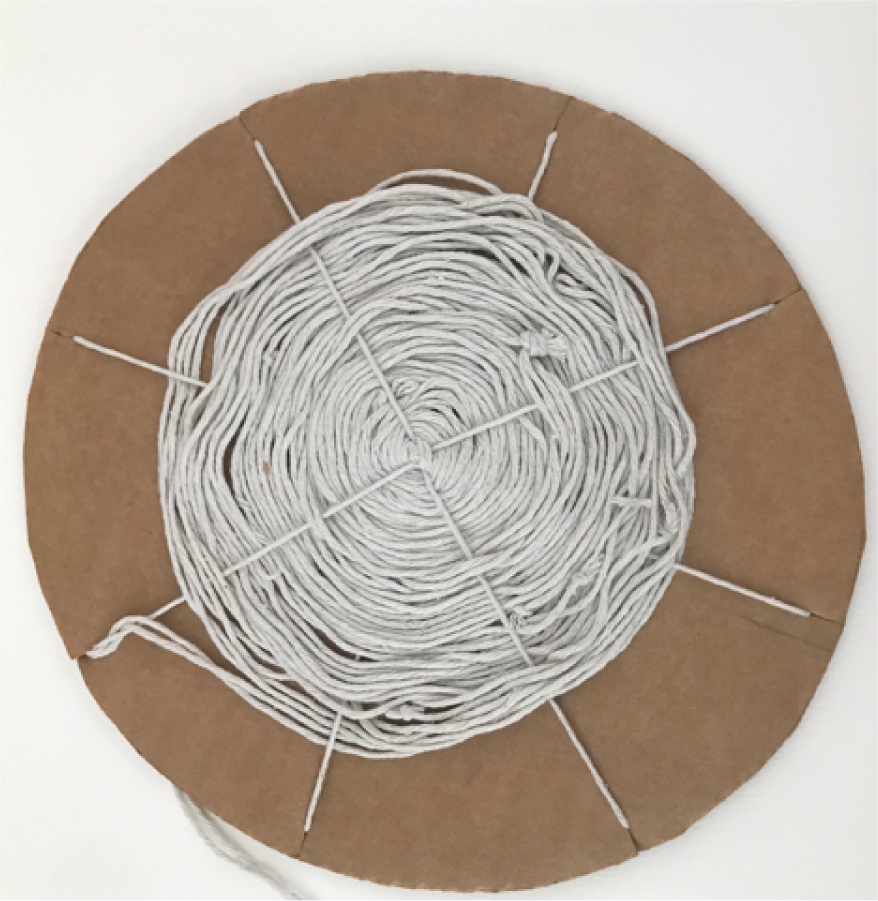 Art project | circle weaving