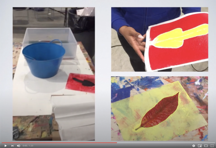 Teen art force: monoprinting