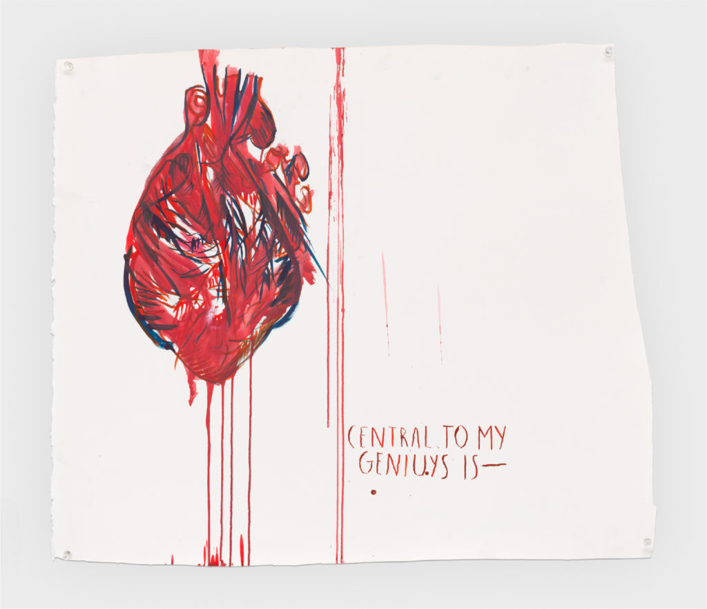 Raymond Pettibon No Title (Central to my...) 2019 Ink and graphite on paper 23 1/2 x 27 3/4 inches 59.7 x 70.5 cm