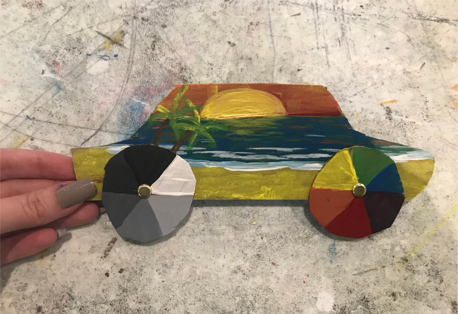 Art project | color wheel cars