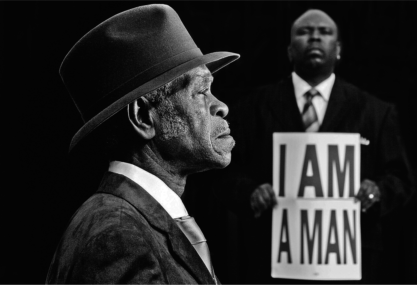 Art on the plaza:Carl Juste I Am A Man Memphis Tennessee, 2008 digital photograph courtesy of Carl Juste /Miami Herald Staff