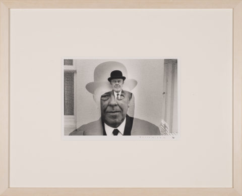 Duane Michals Rene Magritte in Bowler Hat (Multiple Exposure), 1965 Gelatin silver print Gift of Ruth and Richard Shack